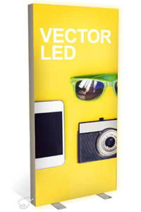 Vector LED Freestanding Lightbox